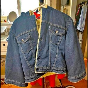 Levi's Big E Made & Crafted Cropped SherpaTrucker